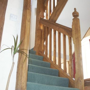 Crpeted Oak Staircase 1