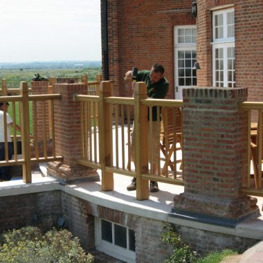 External Oak Balustrade