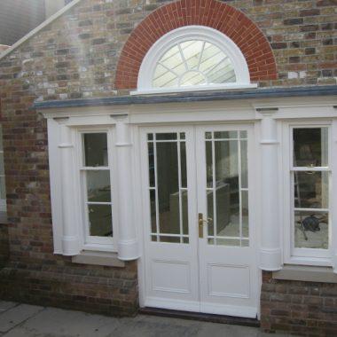 French doors and box sash sidelights 1