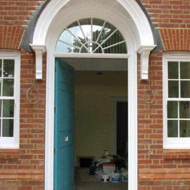 Front door with portice canopy