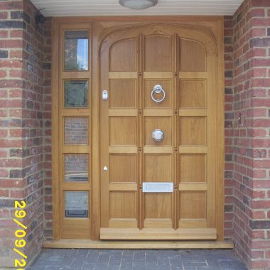 Oak Front Door & Sidelight 1