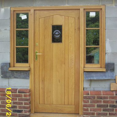 Oak Front Door & Sidelight 2