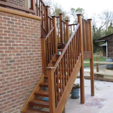Iroko External Staircase and Balcony